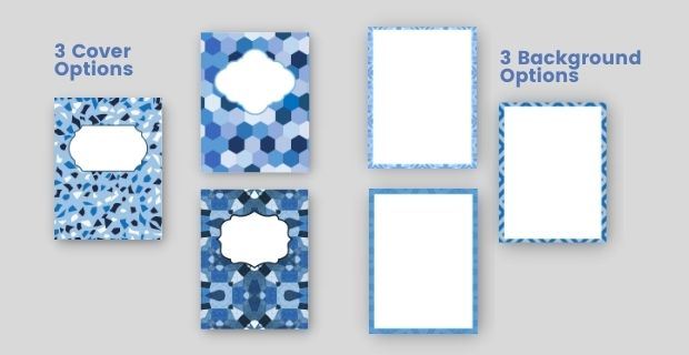 Blue Walking Journal cover options