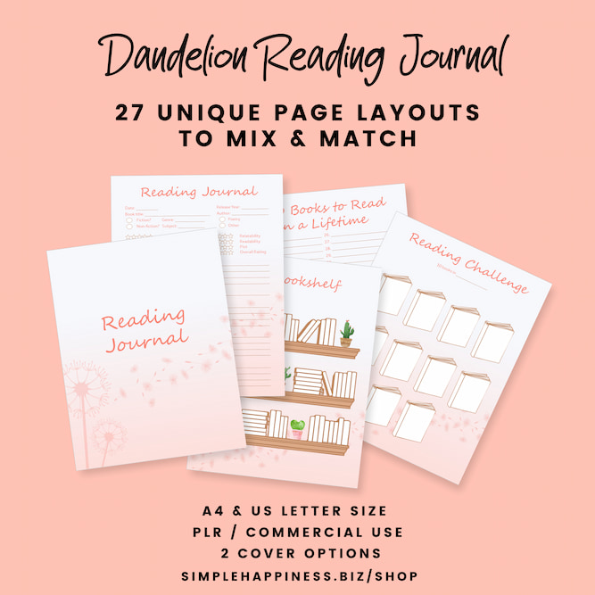 dandelion reading journal ad