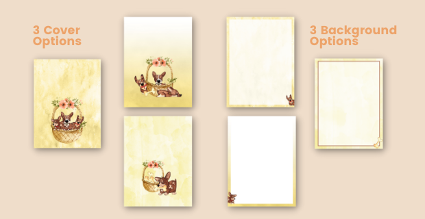 Yellow Dog Journal Cover & Design Options