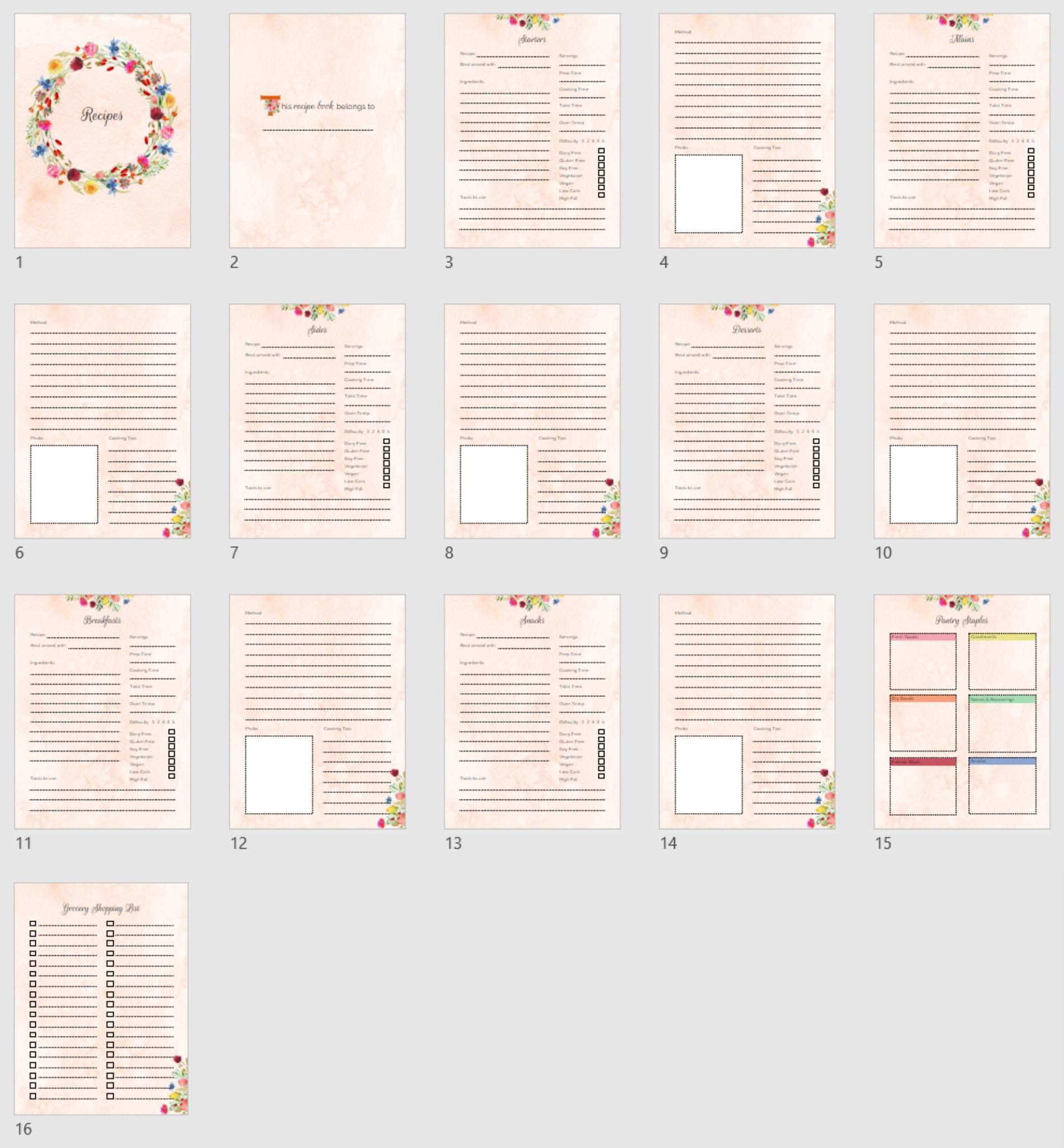 Recipe Book PDF