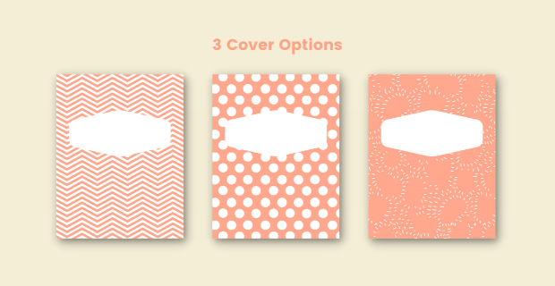 Reading Journal Cover Options